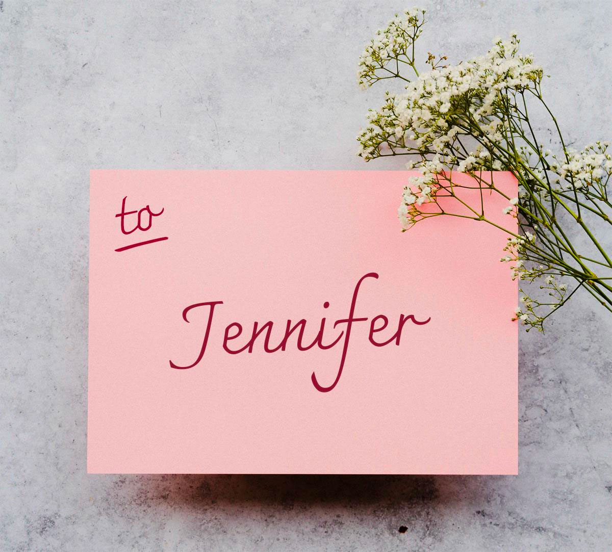 Image of a greeting card personalised with a customer name